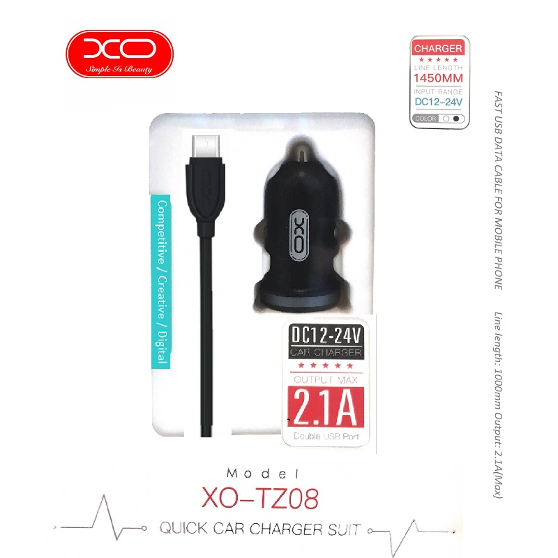 Mobiletech-xo-type-c-usb-car-charger
