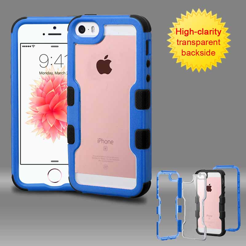 mobiletech-iphone-5-mybat-Natural-DarkBlue-Frame-Transparent -Black-TUFF-Vivid-Hybrid-Protector-Cover