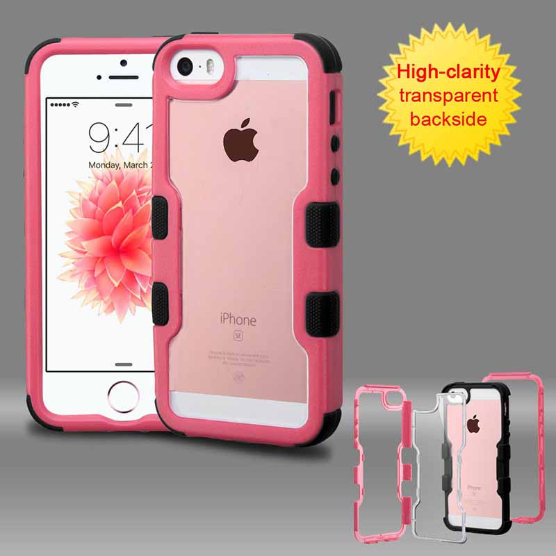 mobiletech-iphone-5-mybat-Natural-Pink-Frame-Transparent -Black-TUFF-Vivid-Hybrid-Protector-Cover