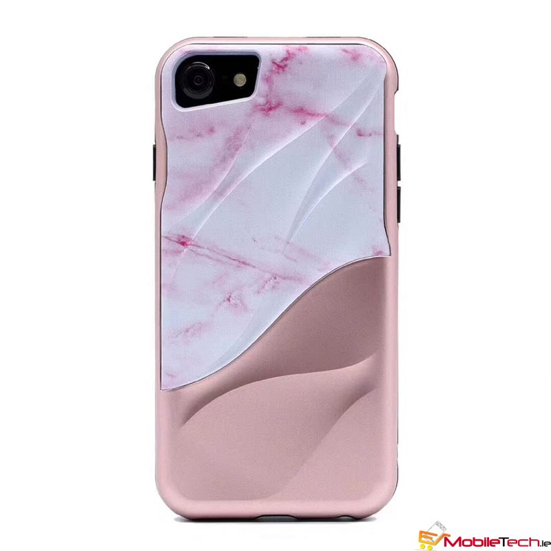 mobiletech-iPhone7-8-Marble-Grain-Cover-Case-RoseGold
