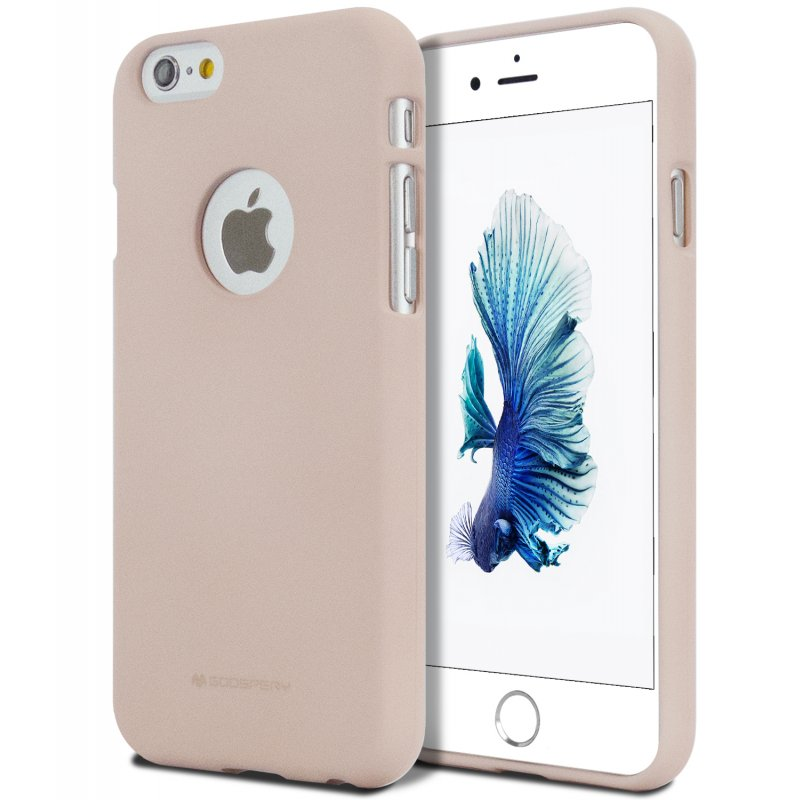 the latest f6092 fa087 iPhone 6/6s Goospery Soft Feeling Case Pink Sand