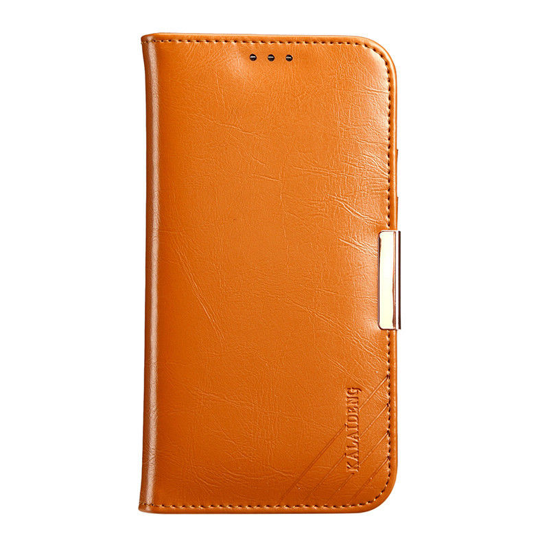 0b6ce467a6f25 iPhone 6 6s Genuine Leather Wallet Case Brown