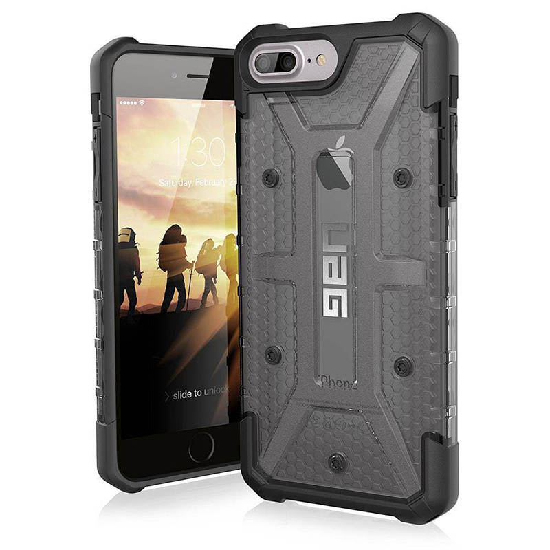 mobiletch-UAG-iPhone-8-7-6-6s-Plus-5-5-inch-screen-Plasma-Feather-Light-Rugged-ash-bLACK