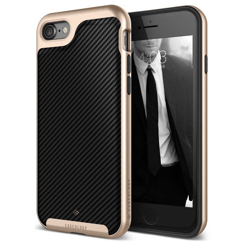 mobiletech-iphone-8-caseology-envoy-Carbon-Fiber-Black