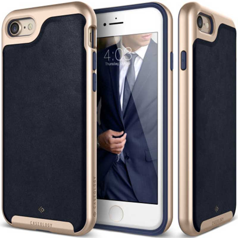 mobiletech-iphone-8-caseology-envoy-Leather-Navy-Blue