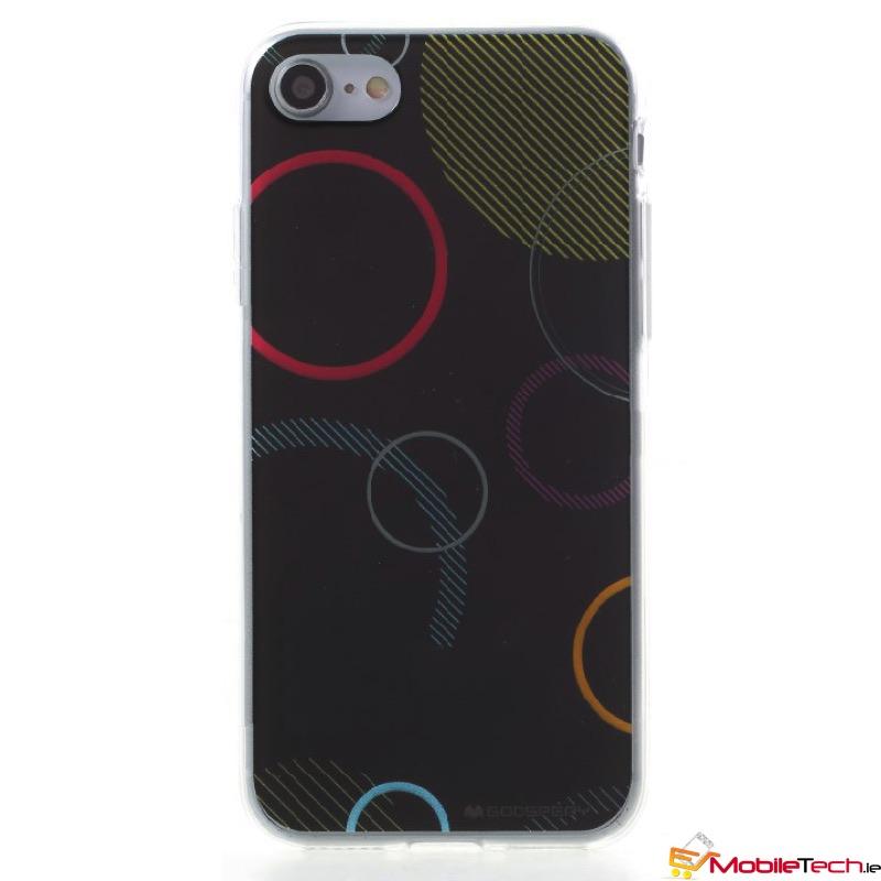 brand new 719ab 50122 iPhone 7 / iPhone 8 Case Goospery Da Vinci Jelly Black