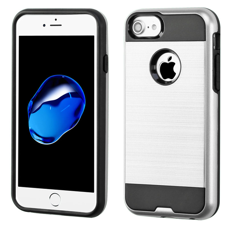 mybat-iphone7-AIPHONE7HPCSAAS352NP-Silver-Black-Brushed-Hybrid-Protector-Cover