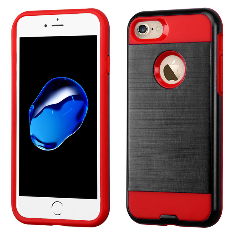 mybat-iphone7-AIPHONE7HPCSAAS35BNP-Black-Red-Brushed-Hybrid-Protector-Cover