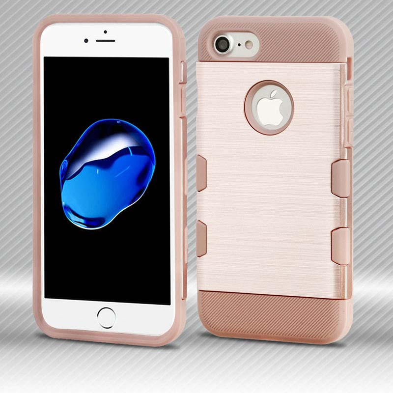 mybat-iphone7-IPHONE7HPCTUFFTROSO637WP-Rose-Gold-Rose-Gold-Brushed-TUFF-Trooper-Hybrid-Protector-Cover