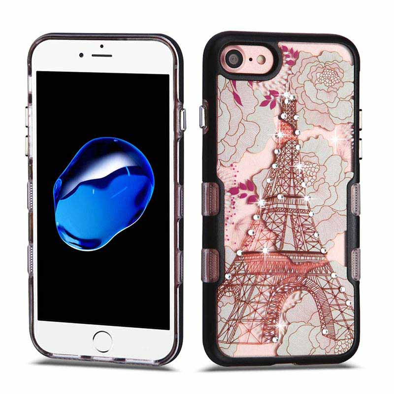 mybat-iphone7-IPHONE7HPCTUFFPNVDI003WP-Metallic-Black-Eiffel-Tower-Diamante-TUFF-Panoview-Hybrid-Protector-Cover