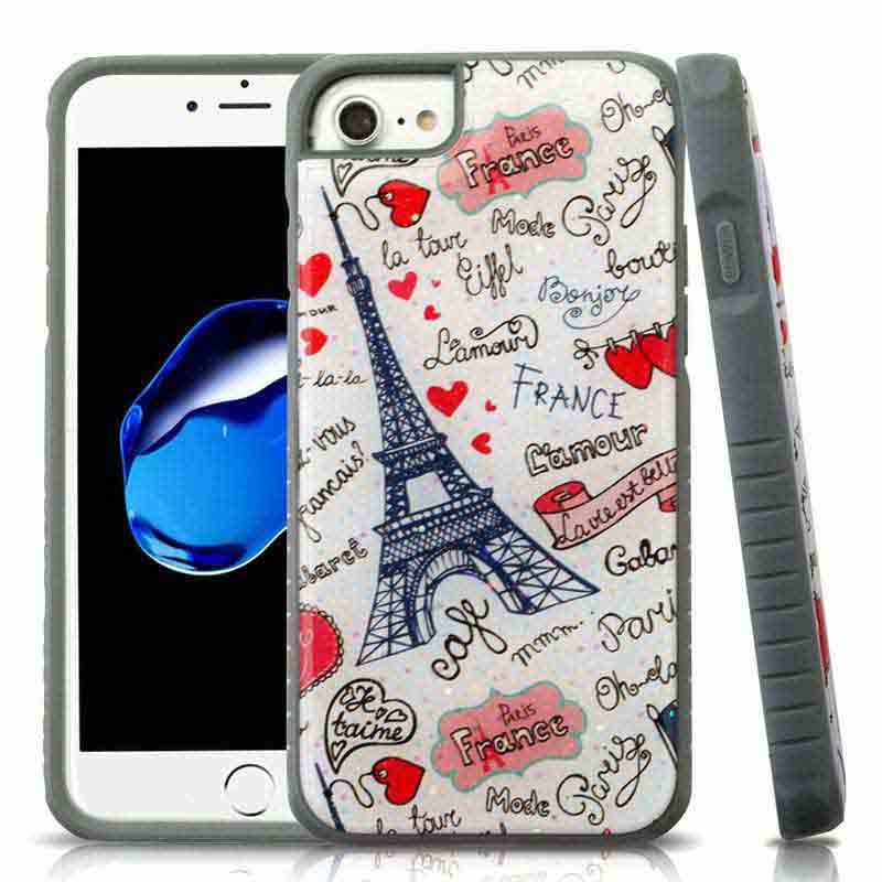mybat-iphone7-IPHONE7HPCFSIM301WP-Eiffel-Tower-Love-Gel-Iron-Gray-Glitter-Fusion-Protector-Cover