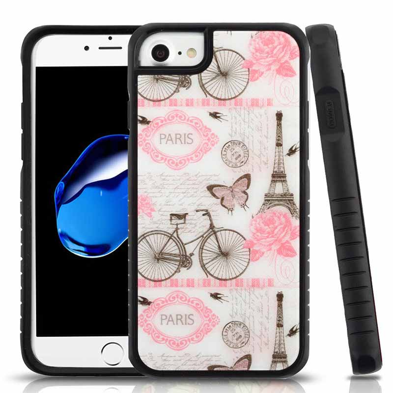 mybat-iphone7-IPHONE7HPCFSIM311WP-Riding-By-Eiffel-Tower-Tempered-Glass-Black-Fusion-Protector-Cover