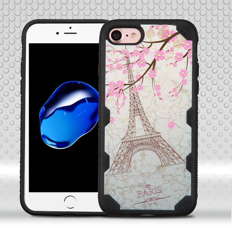 mybat-iphone7-IPHONE7HPCTUFFCHLIM523WP-Paris-Eiffel-Tower-Black-FreeStyle-Challenger-Hybrid-Protector-Cover