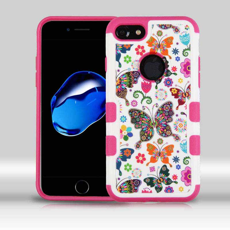mybat-iphone7-IPHONE7HPCTUFFMERIM040WP-Butterfly-Wonderland-Hot-Pink-TUFF-Merge-Hybrid-Protector-Cover