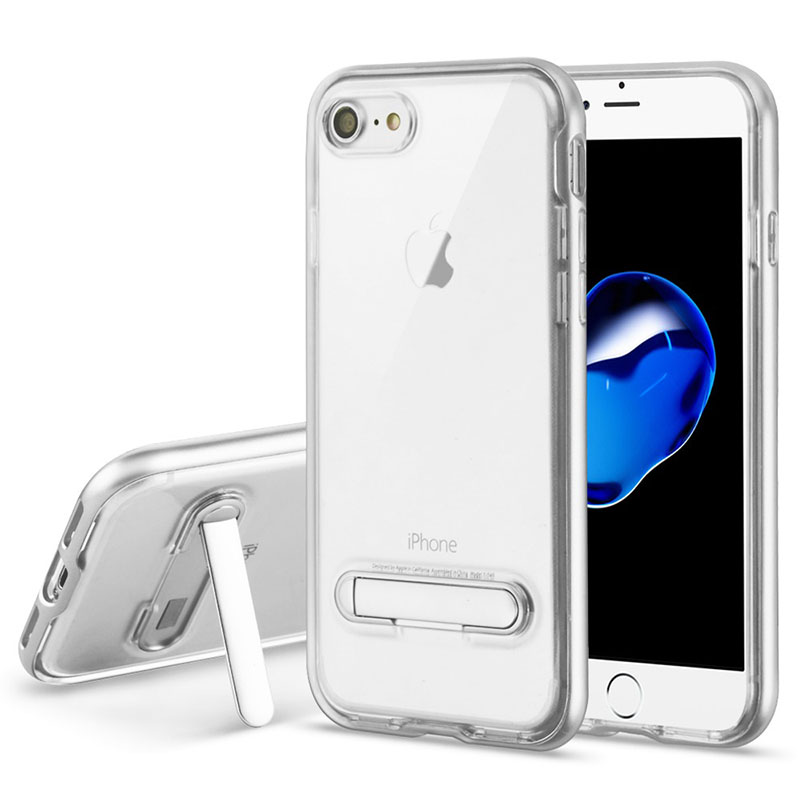 mybat-iphone7NIPHONE7HPCSAAS822NP-Silver-Transparent-Clear-Hybrid-Protector-Cover