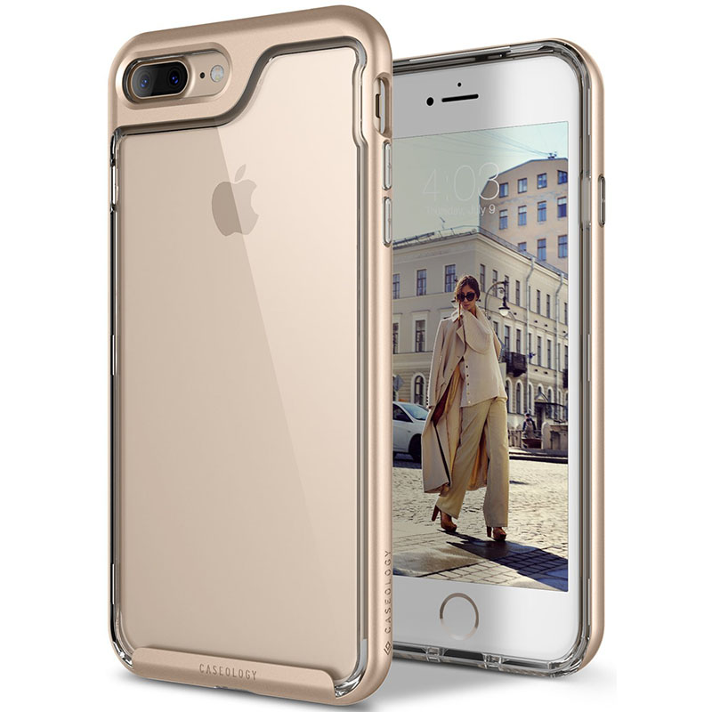 low priced a7f28 0a592 iPhone 7/8 Plus Caseology Skyfall Series Gold