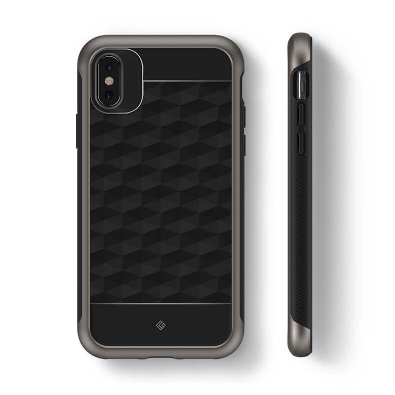 the best attitude b05c1 a0feb iPhone X Case Caseology Parallax Series Case - Black / Warm Gray