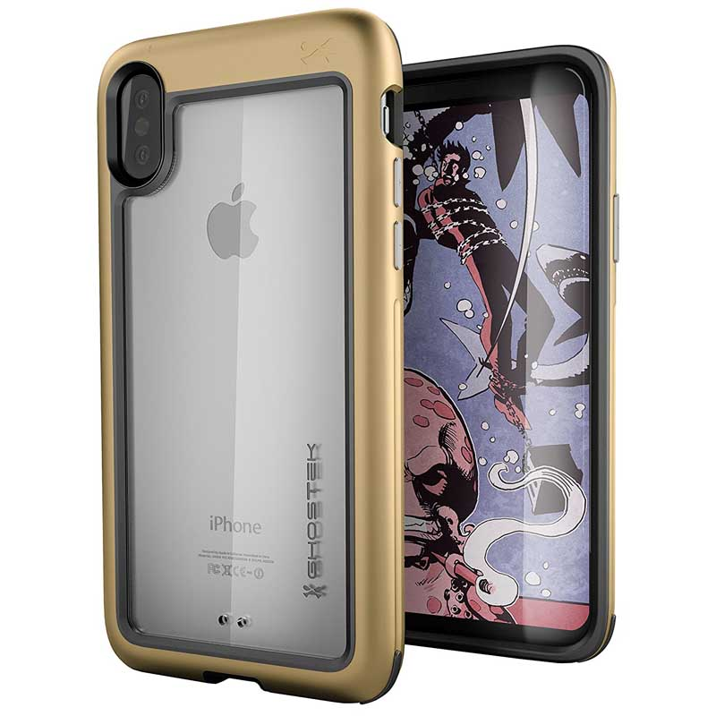 -mobiletech-Ghostek-Atomic-Slim-Apple-iPhone-X-Case-gold