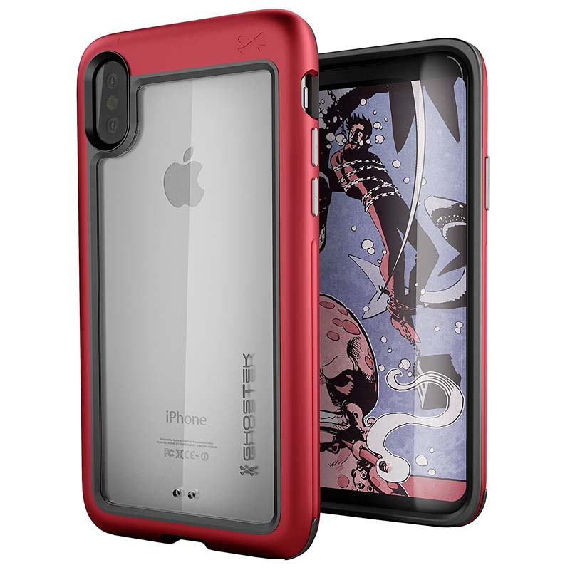-mobiletech-Ghostek-Atomic-Slim-Apple-iPhone-X-Case-red-