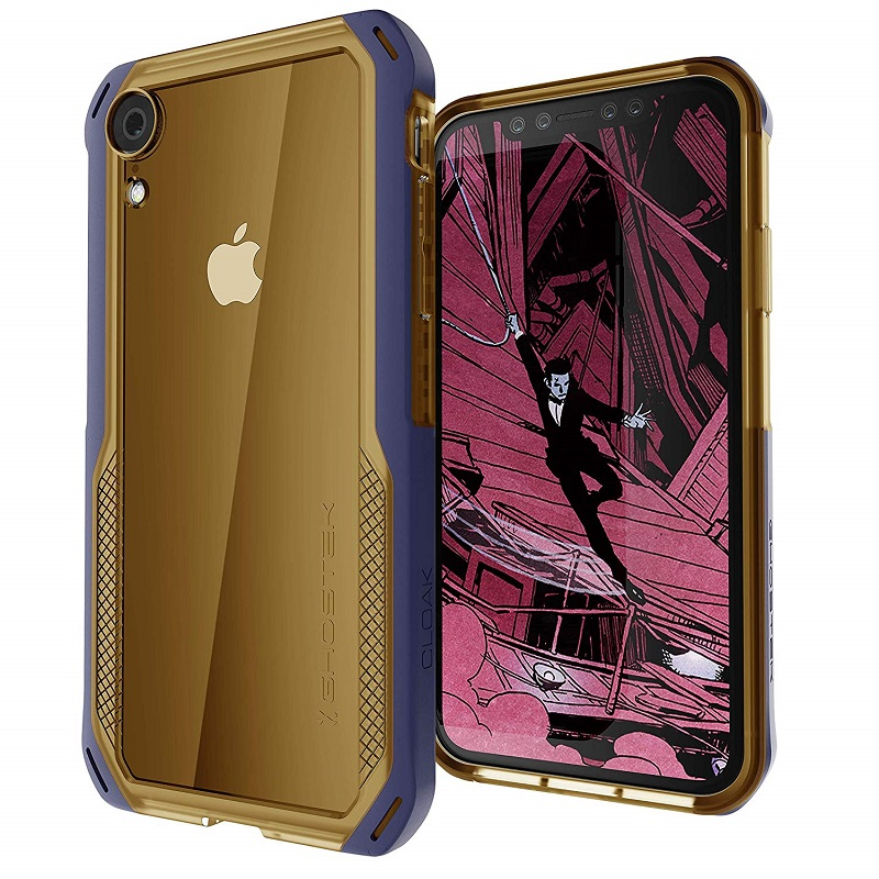 mobiletech-iPhone-XR-ghostek-cloak-4-gold-blue