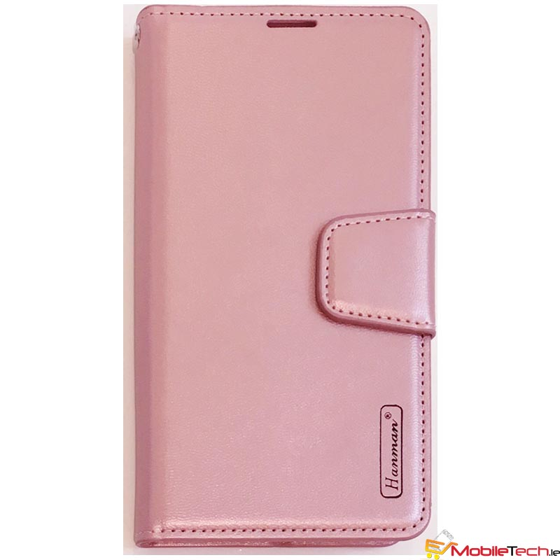 mobileTech-Apple-iPhone-XR-Hanman-Wallet-Case-Book-Cover-Folio-Case-RoseGold