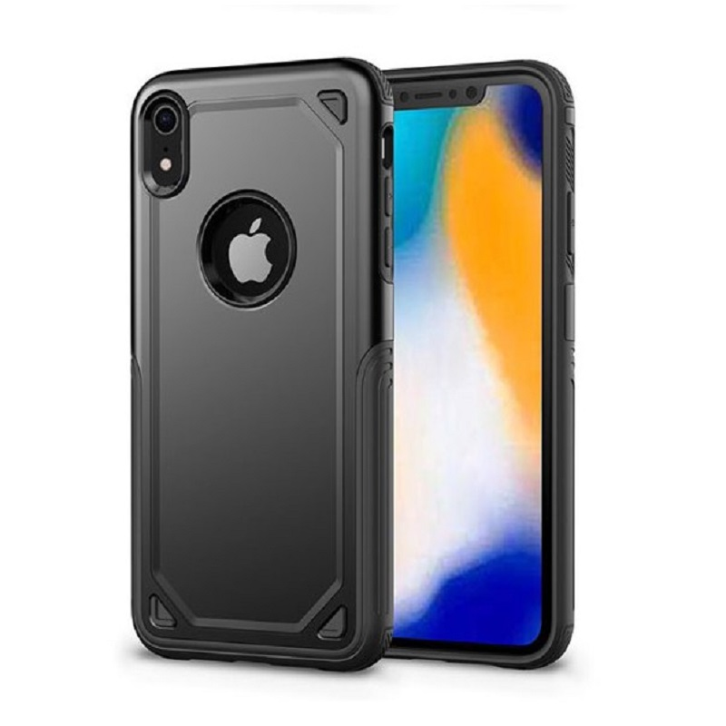 mobiletech-iPhone-XR-Max-Tough-Armor-Hybrid-Case-Black