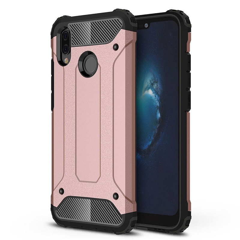 sports shoes e83d1 7345b Huawei P Smart 2019 Dual Layer Hybrid Soft TPU Shock-absorbing Protective  Cover RoseGold
