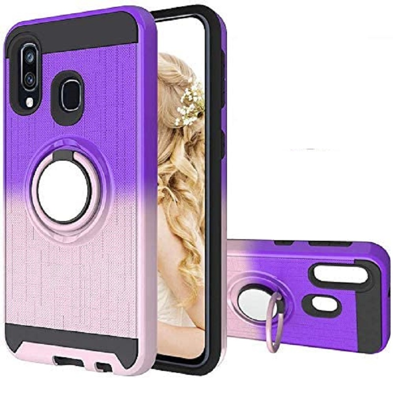 huawei-p-smart-2019-multi-colo-ring-armor-case-purple-rosegold