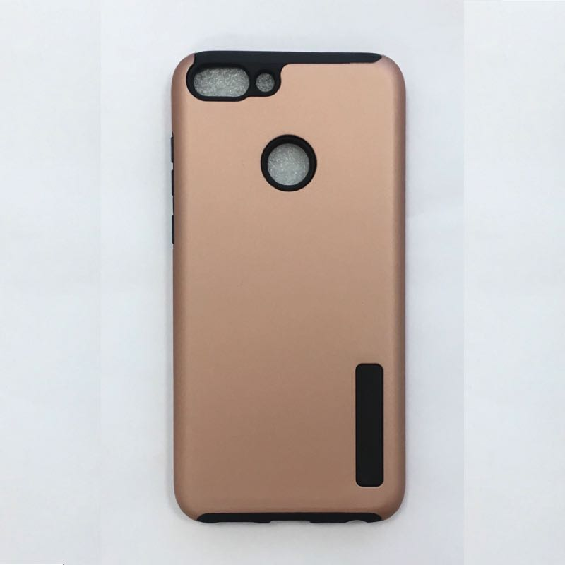 new arrival 42d94 673a8 Huawei P Smart Shockproof Dual Layered Back Case RoseGold