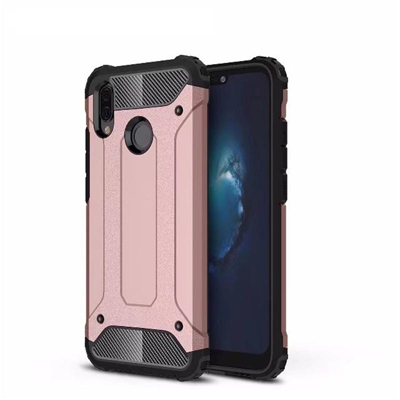 online retailer f5bb9 d82a1 Huawei P20 Lite Dual Layer Hybrid Soft TPU Shock-absorbing Protective Cover  RoseGold