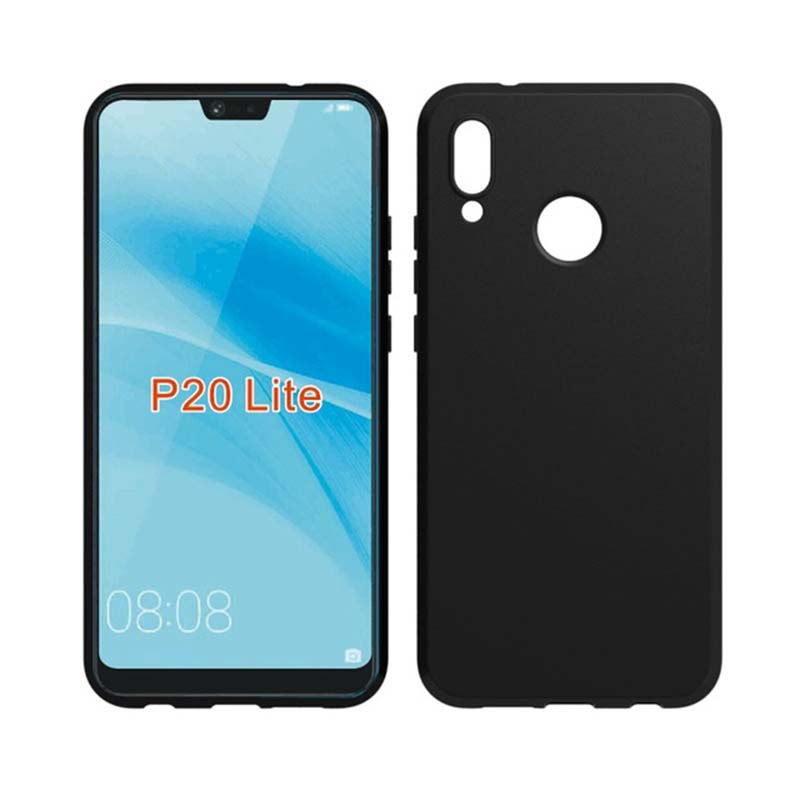 online retailer 4193a 44fc7 Huawei P20 Lite Silicon Black Cover