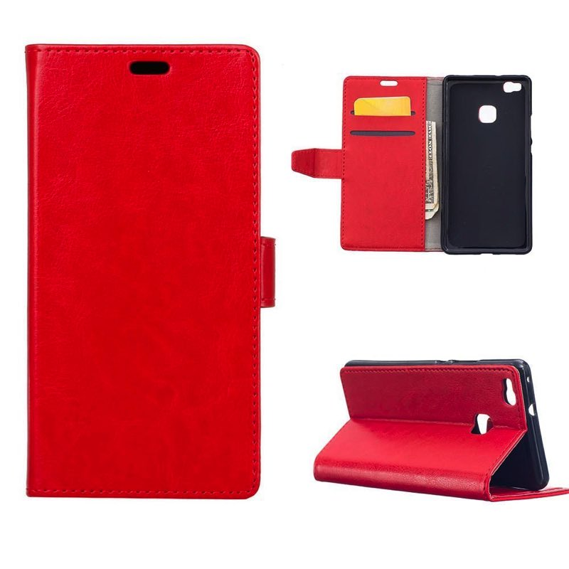 timeless design d24d0 0a306 Huawei P9 Lite PU Leather Wallet Case Red