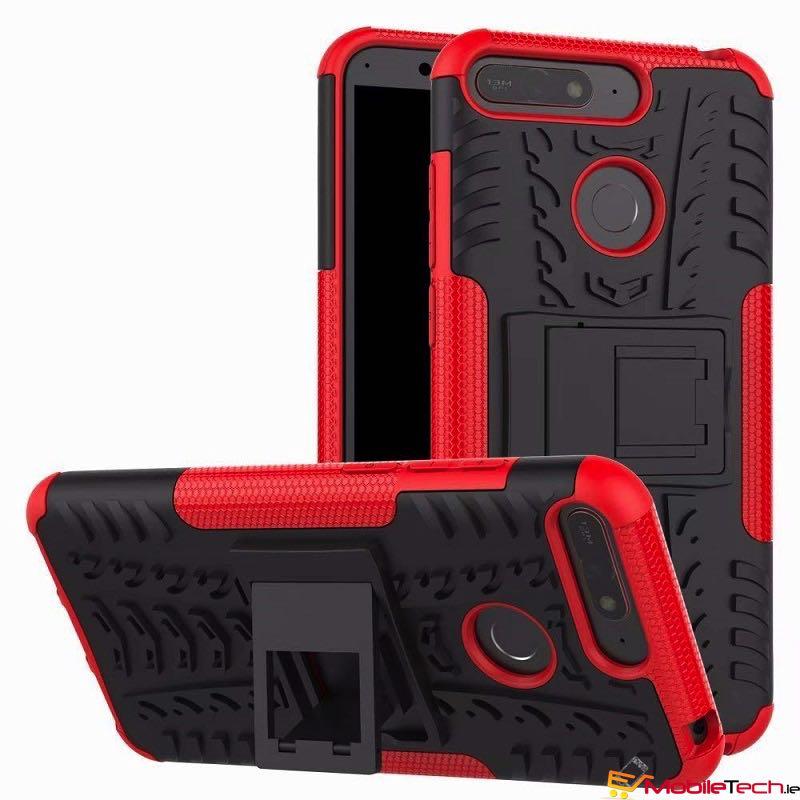 Splinternye Huawei Y6(2018) Tyre Defender Cover Red AA-99