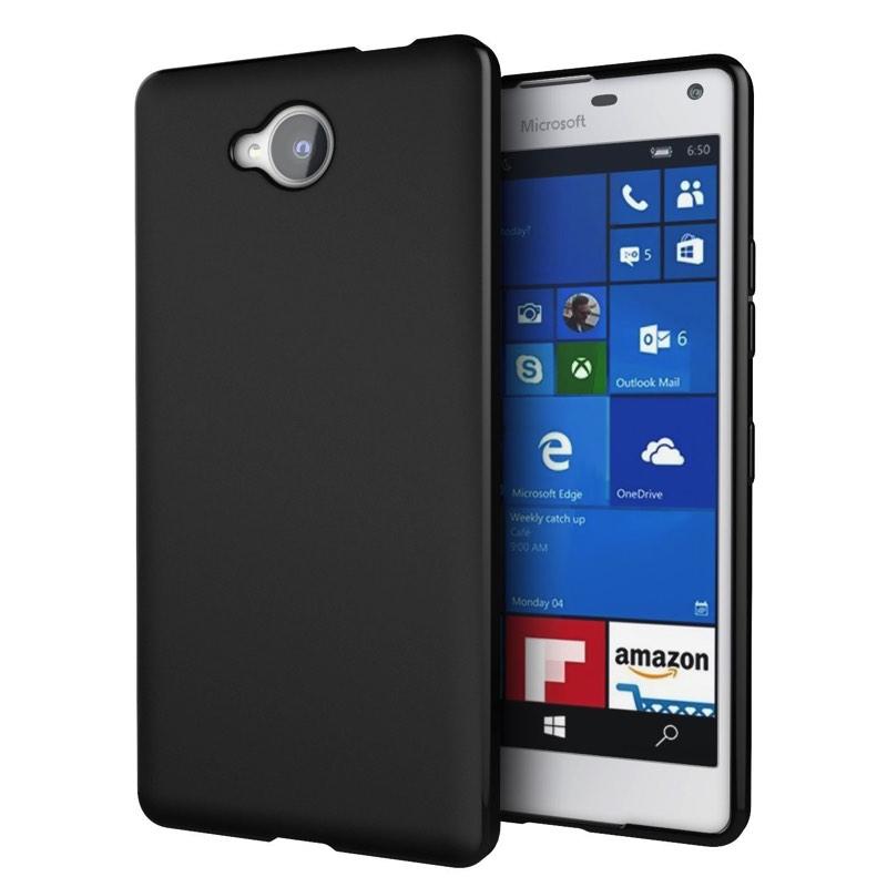 sports shoes e49c5 39a9d Nokia Lumia 650 Silicon Case Black