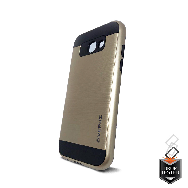 the latest 93e60 4e7e3 Samsung Galaxy A3(2017) Shockproof Dual Layered Back Case Gold