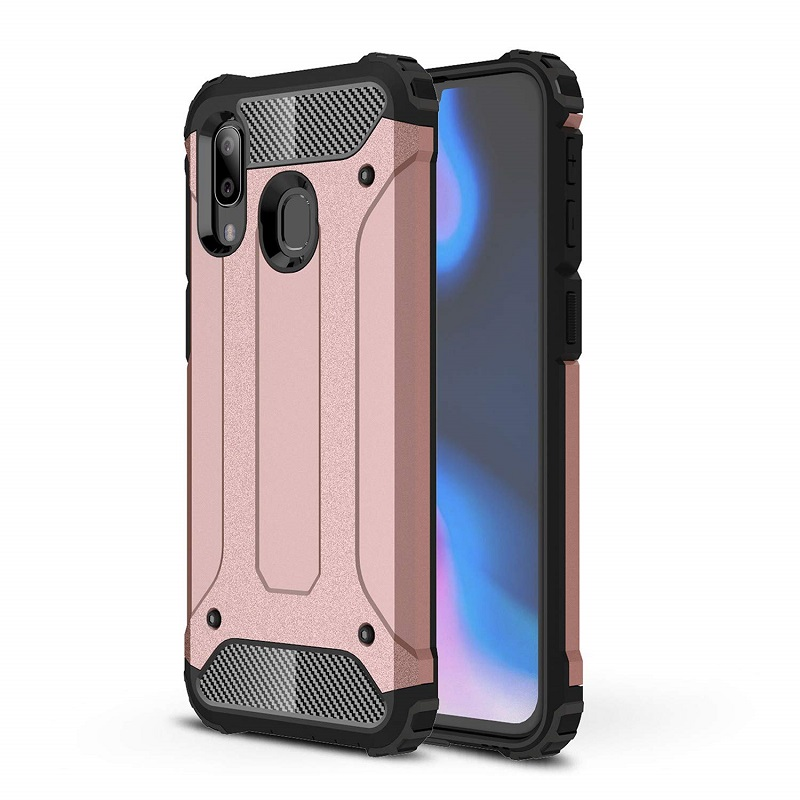 mobiletech-samsung-a40-luxury-armor-rosegold
