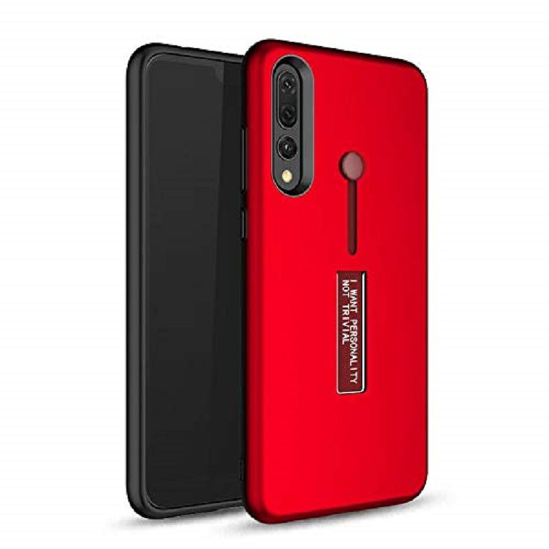sneakers for cheap f4a69 bb9a3 Samsung Galaxy A7 2018 Kickstand Shockproof Cover Red