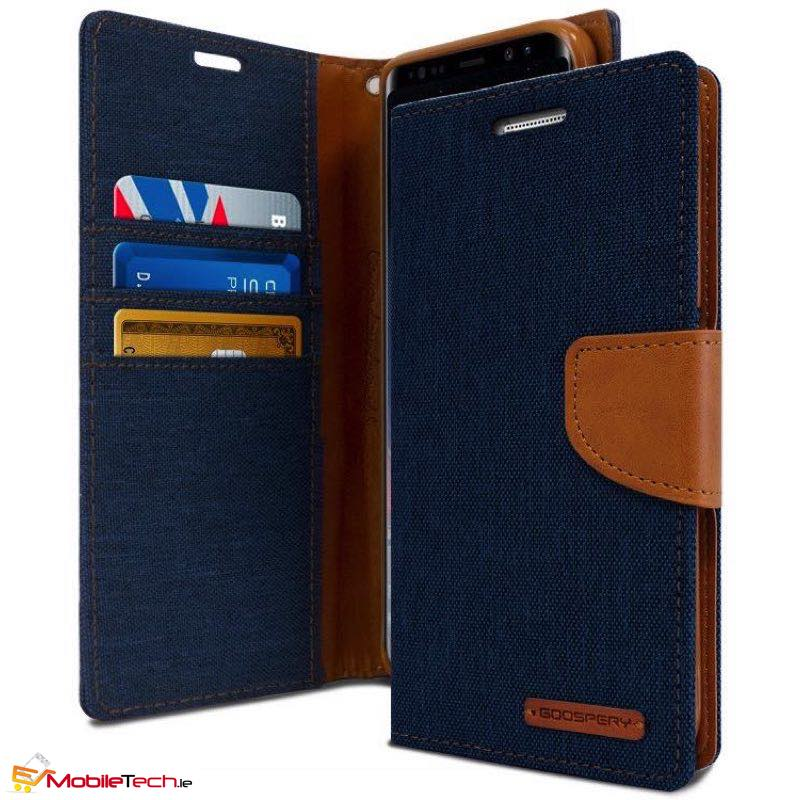 mobiletech-samsung-galaxy-a8-2018-goospery-canvas-diary-cases-cover-Navy