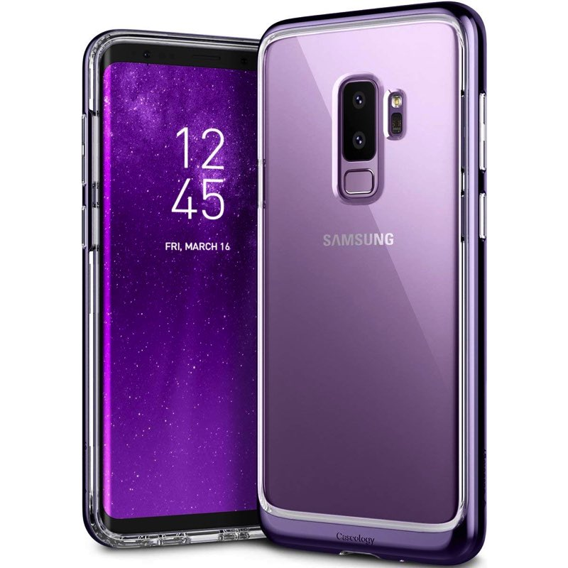 newest 08ada 8803a Samsung Galaxy S9 Plus Caseology Skyfall Series Cover Violet