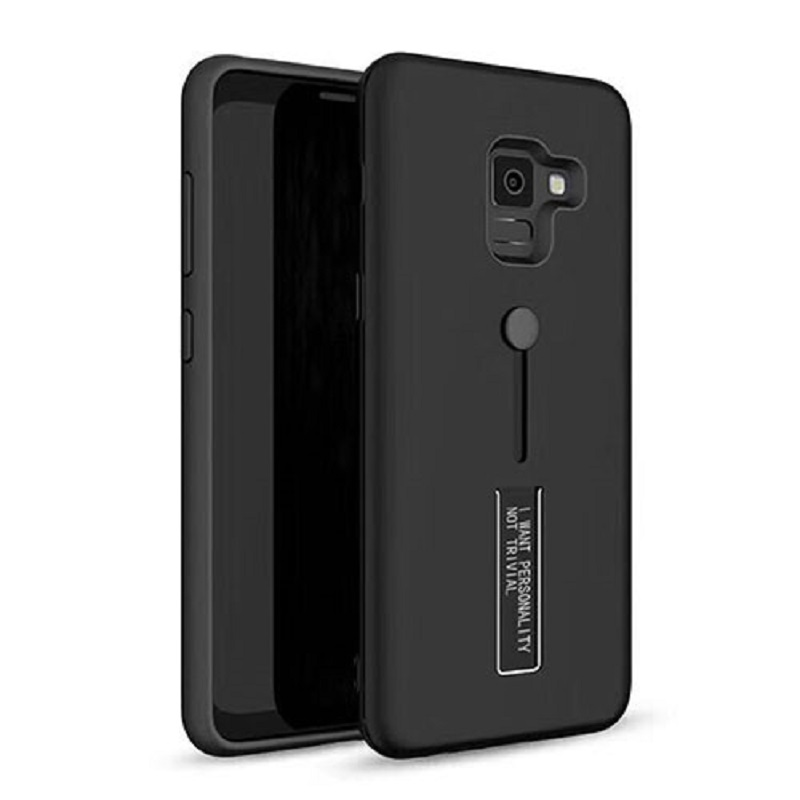 mobiletech-samsung-j4-plus-fashion-kickStand-Cover-Black