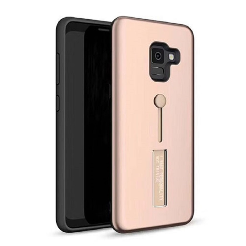 best service c21f0 daf4f Samsung Galaxy J4 Plus Kickstand Shockproof Cover Rosegold