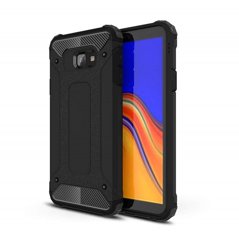 mobiletech-samsung-j4-plus-shockproof-luxury-armor-case-cover-black