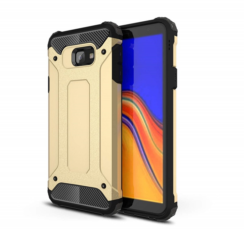 mobiletech-samsung-j4-plus-shockproof-luxury-armor-case-cover-gold