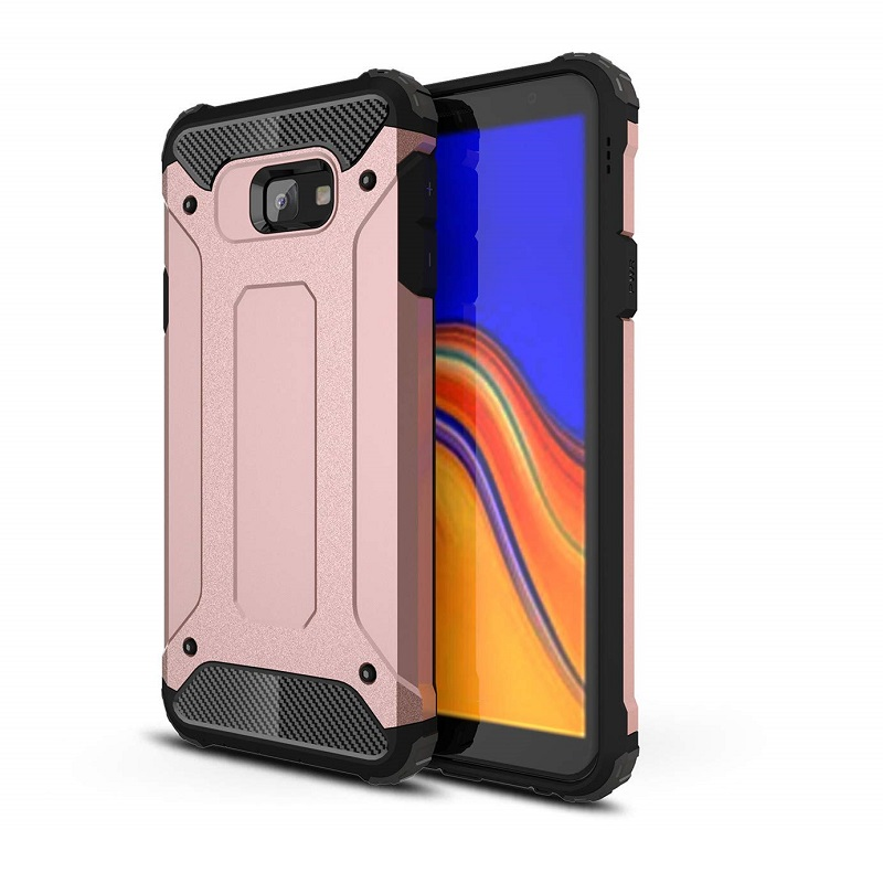 mobiletech-samsung-j4-plus-shockproof-luxury-armor-case-cover-rosegold