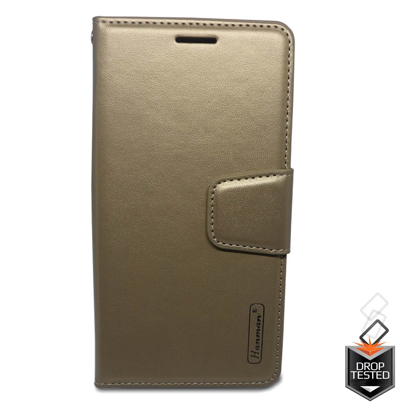 big sale 8dd8d bac97 Samsung Galaxy J5(2017) Hanman Wallet Case Gold
