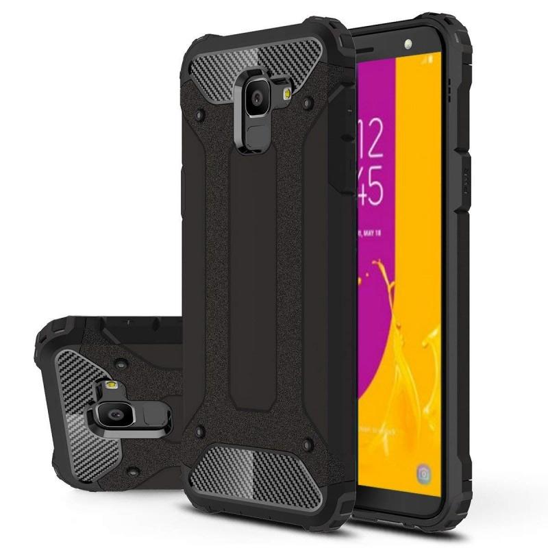 low priced b052e b47f9 Samsung Galaxy J6 Plus Dual Layer Hybrid Soft TPU Shock-absorbing  Protective Cover Black