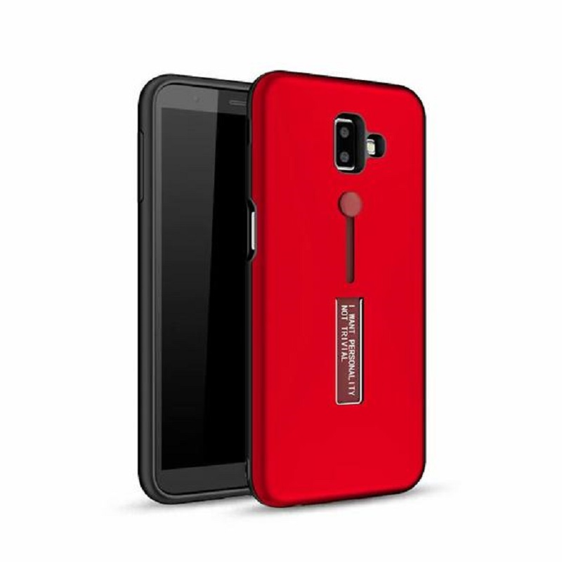 best service f53ca fbc5e Samsung Galaxy J6 Plus (2018) Kickstand Shockproof Cover Red