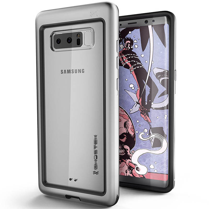mobiletch-Ghostek-Atomic-Slim-Rugged-Heavy-Duty-Case-for-Samsung-Galaxy-Note-8-sILVER