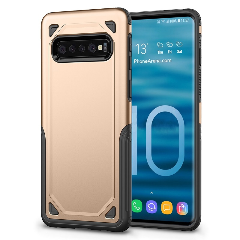 mobiletech-samsung-galaxy-S10 Plus-shockproof-case-gold