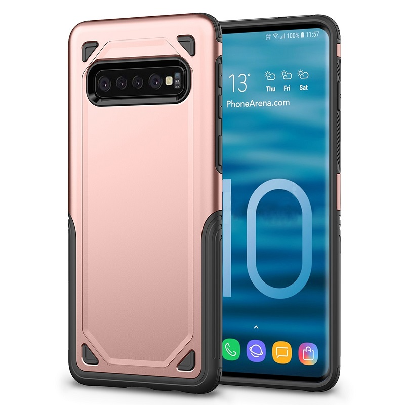 mobiletech-samsung-galaxy-S10 Plus-shockproof-case-rosegold